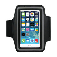 EXCO 宜适酷 机运动臂包 防水防震 男女士户外跑步臂带臂套手机包 适用于苹果/三星/小米通用 大号适用于4.7英寸手机 黑色 SP06