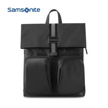 Samsonite/新秀丽 新利娱乐下载时尚翻盖双肩包潮人背包折叠电脑包 TM7 黑色 M