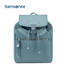 Samsonite/新秀丽 明星同款时尚女包包 轻便尼龙防泼水双肩包韩版背包34N 灰蓝色
