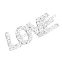 APM MONACO 单只纯银镶晶钻LOVE耳环 AE10955OX